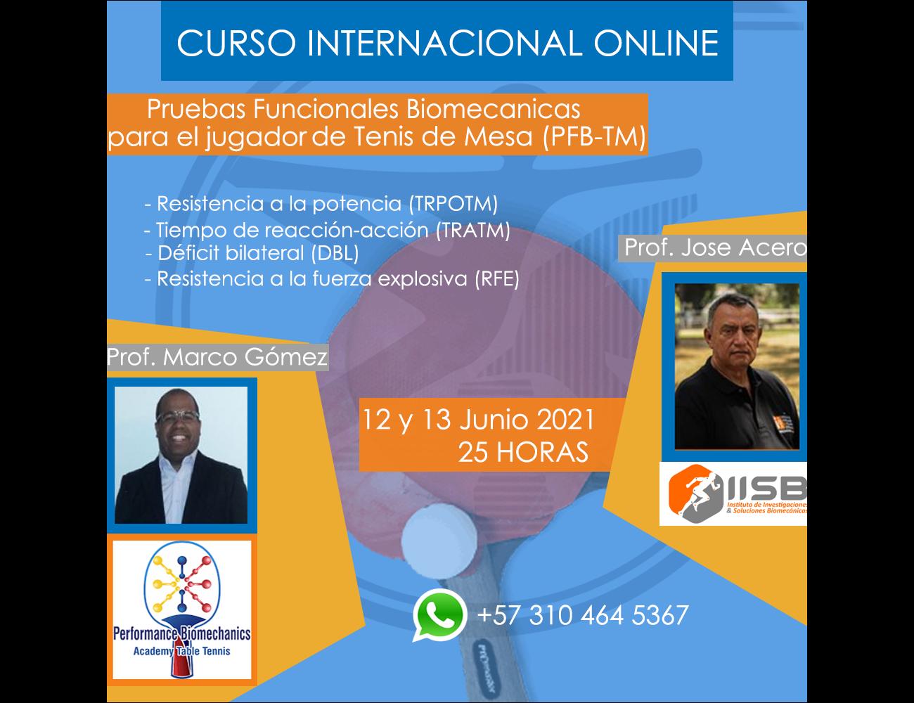 PRUEBAS FUNCIONALES BIOMECANICAS PARA EL JUGADOR DE TENIS DE MESA (PFB-TM)